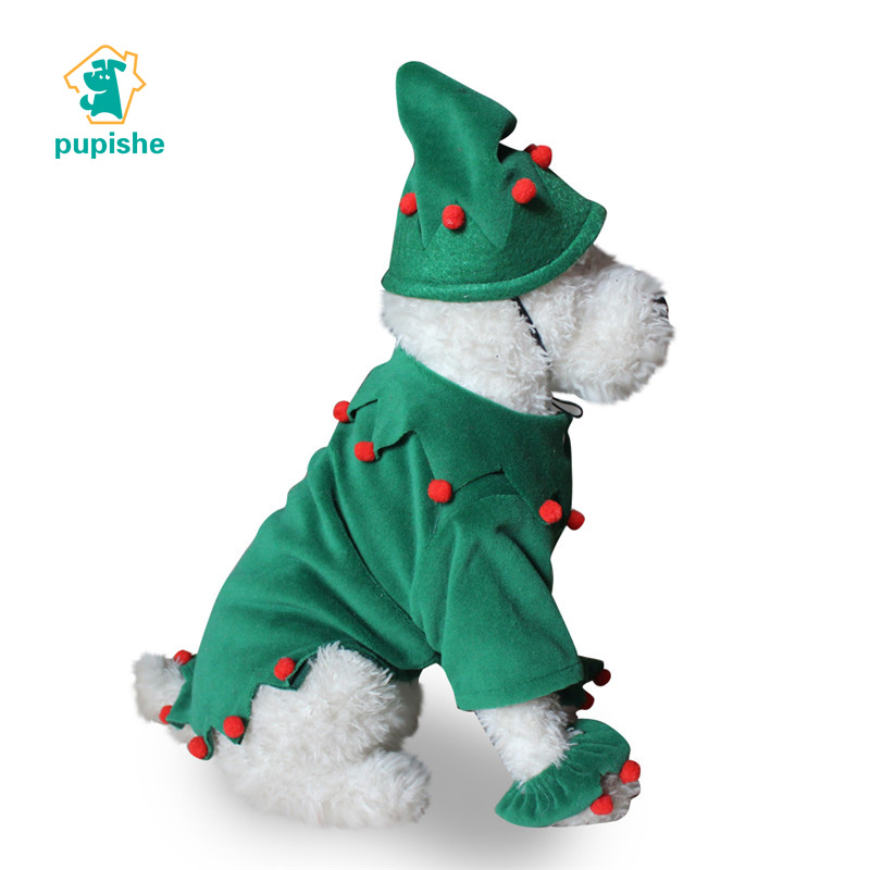 d901bd375416 Detail Feedback Questions about PUPISHE Christmas Dog Costumes Green Pet  Dog Costumes with Hat for Small Medium Dogs Cute Pet Xmas Elf Clothes Funny  Dog ...