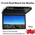 13 de polegada de Montagem Do Telhado Do Carro Monitor com Construído em IR Transmissor FM (MP5/USB e Cartão de MEMÓRIA SD/MS/Mmc)