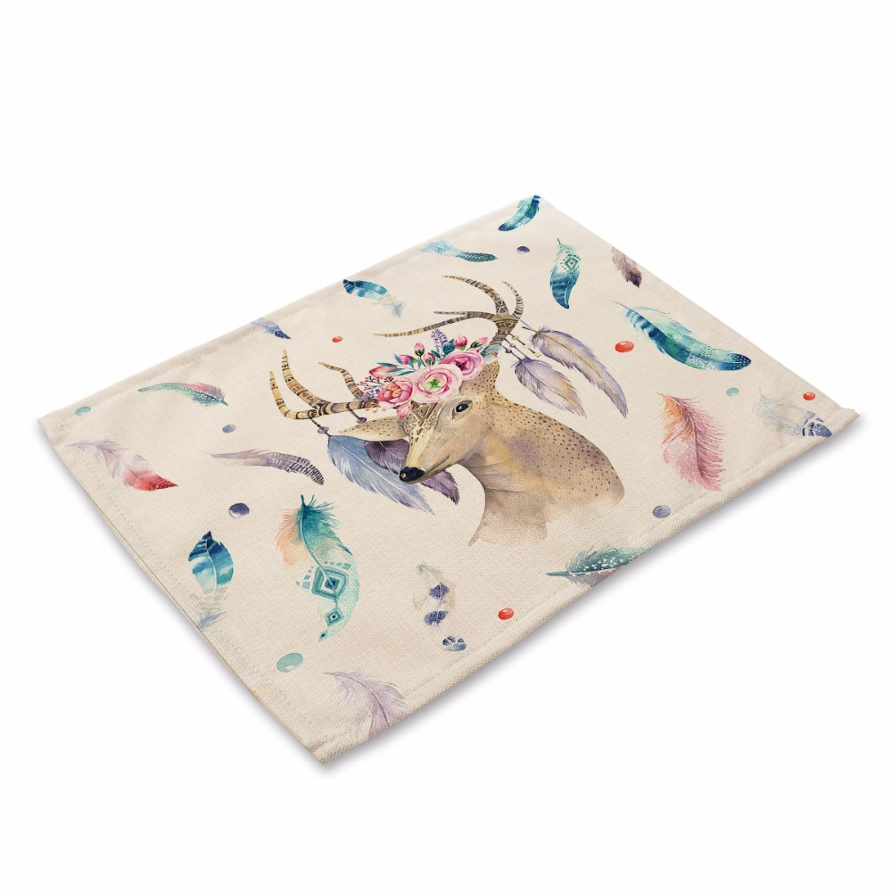 Cross-border hot-selling cotton linen arts insulated Western pad Dream catcher Foreign trade tableware Table Napkin