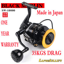 Japan Gemaakt reel Lurekiller vissen reel Full Metal Jigging Reel Black Marlin SW10000 Saltwater Spinning Reel Boot Reel 10BB