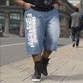 Мужские большой размер свободные мешковатые джинсы для мужчин мальчика хип-хоп скейтборд брюки для рэпперов рэп брюки синий хип-хоп большой 30-46