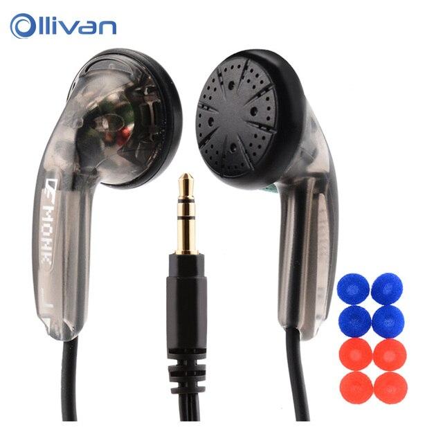 Спортивные наушники OLLIVAN с плоской головкой, наушники вкладыши VE Monk Plus, стереогарнитура с басами для Iphone, XiaoMi, Samsung, Huawei, всех телефонов