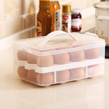 SBLE clear plastic kitchen egg storage box Basket organizer Egg Food Container Storage box home kitchen accessories free ship