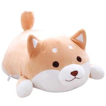 1 шт. Шиба ину собака плюшевые игрушки, супер мягкая детская собака плюшевая подушка, собака попка подушка, детские игрушки, подарок для дево...