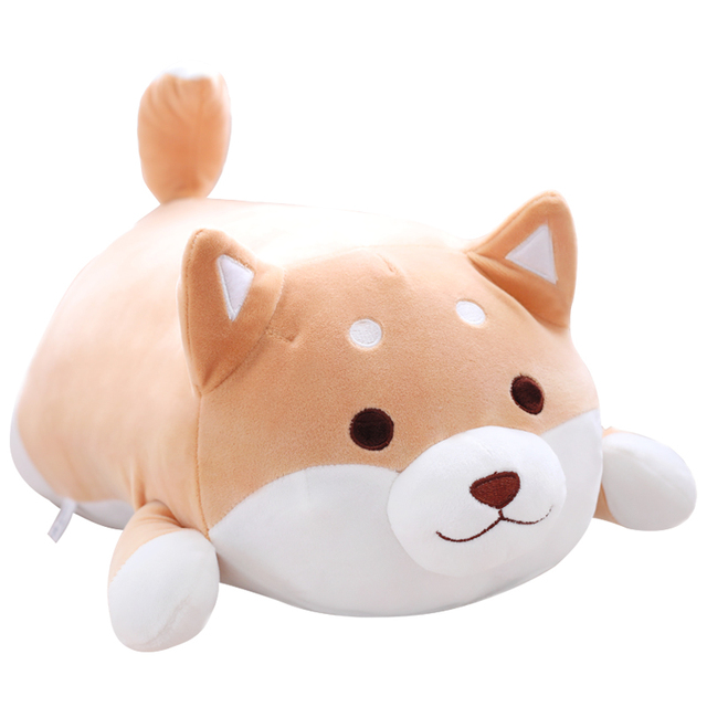 1 PEÇA Shiba Inu dog Plush Brinquedos De Pelúcia, Cachorro de pelúcia Travesseiro do bebê Super Macia, Cão Burro Travesseiro, brinquedos das crianças, presente da menina