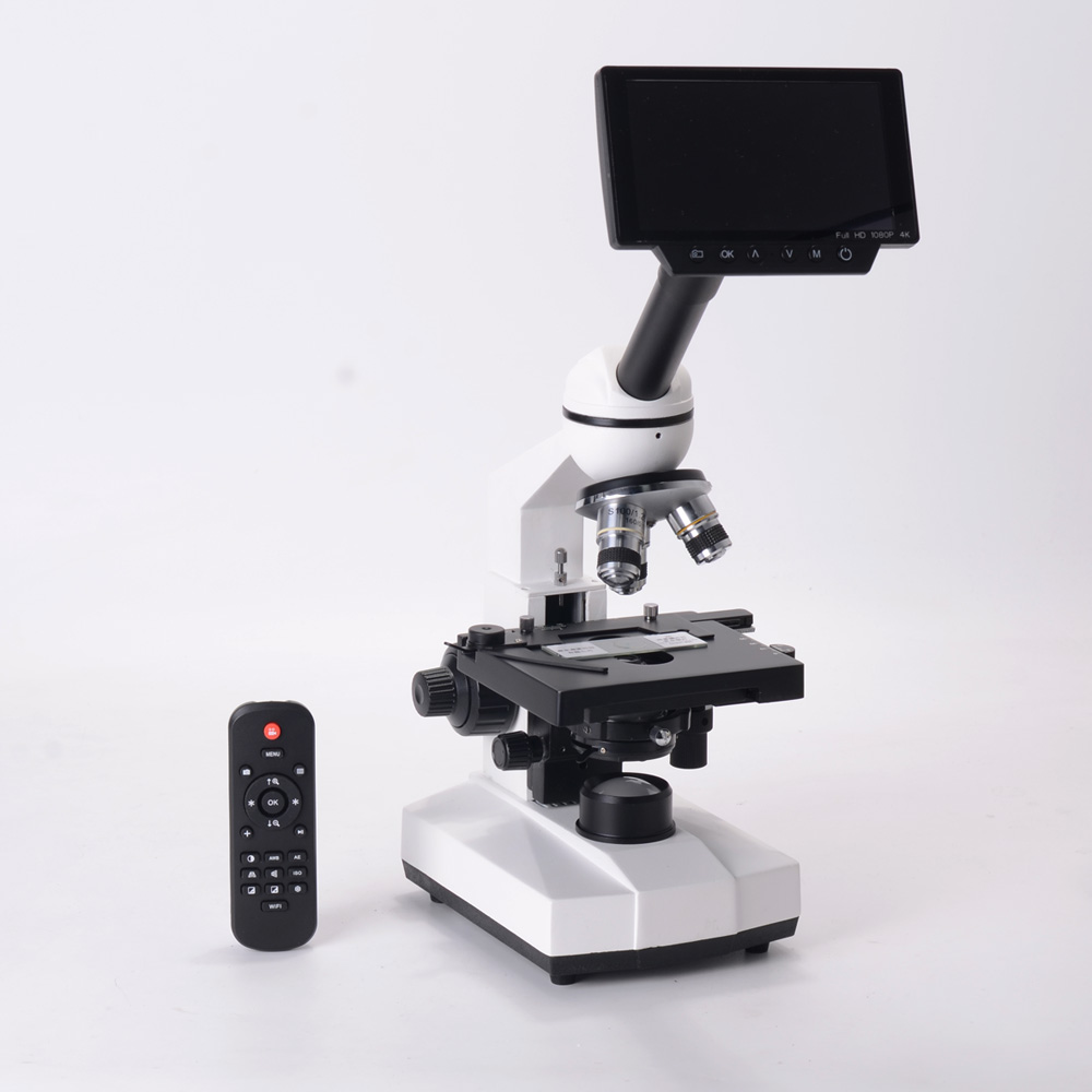 40X 1600X Professional Biological Microscope Kit Double Layer Mechanical XY Stage for Educational Science Lab Light