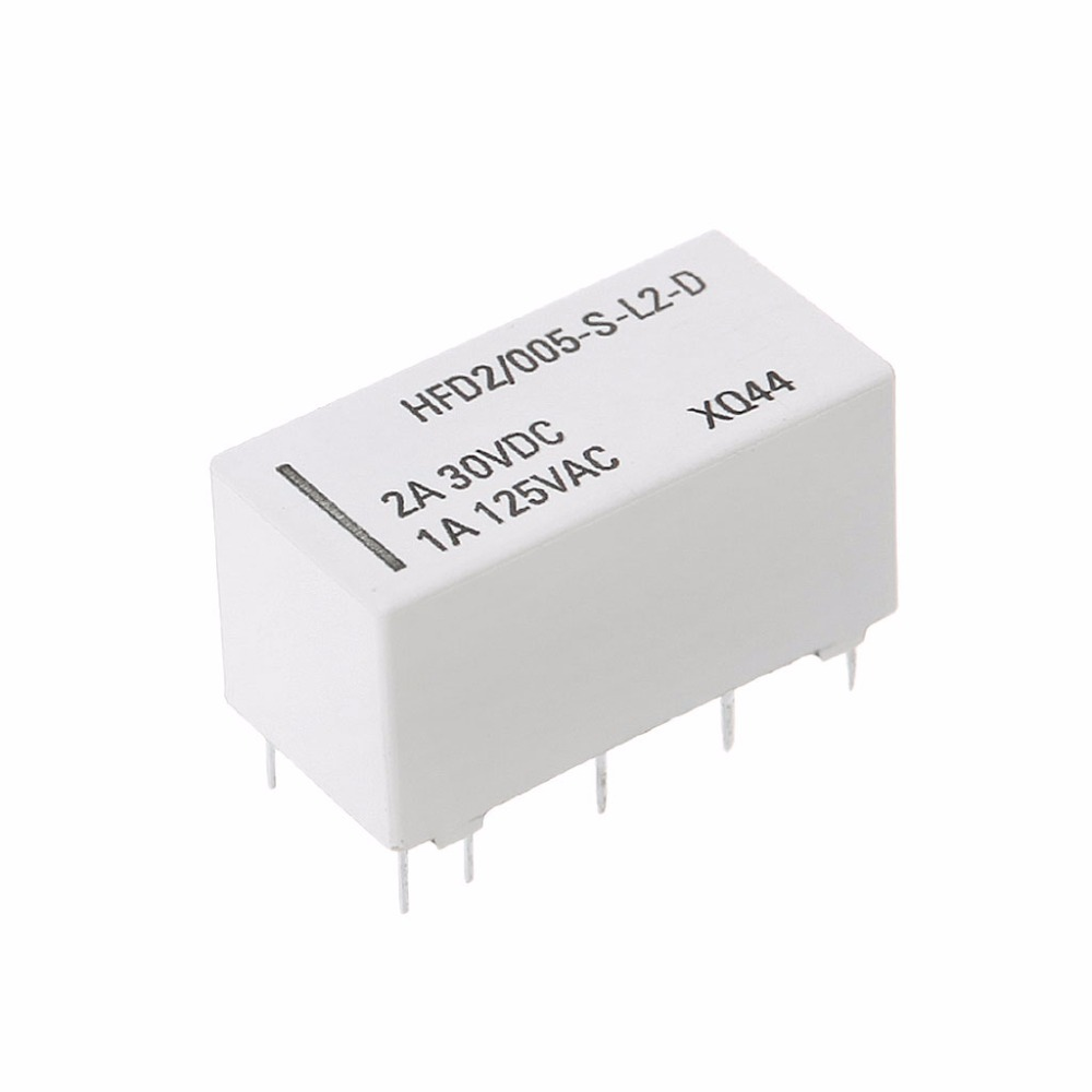 Cut Rate 12v Coil Bistable Latching Relay Dpdt 2a 30vdc 1a 125vac Hfd2 005 S
