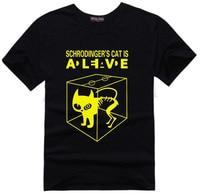 Schrodingers Cat T Shirt Science Geek T Shirts Comic Tee Tshirt The Big Bang Theory