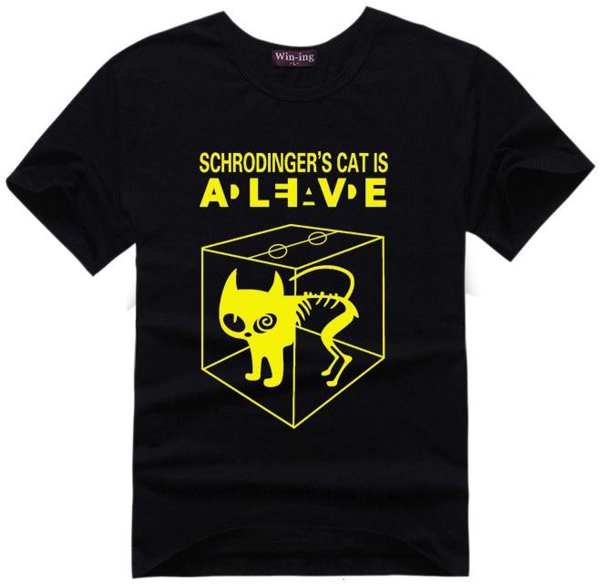 Schrodingers Cat T Shirt Science Geek T Shirts Men Women