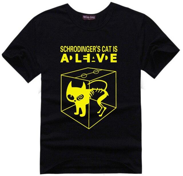 Schrodingers Cat T-shirt science geek t shirts men women comic tee tshirt The Big Bang Theory Sheldon Cooper