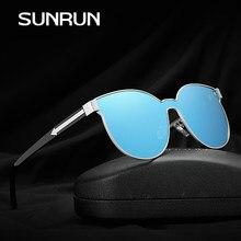 SUNRUN Novo Design Da Marca Gato Olho Mulheres Óculos De Sol Da Moda  Gradual Grey Lens Óculos De Armação De Metal Óculos de Sol . 50fa903eec