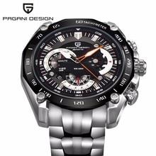 Coche Meter Cronómetro de Cuarzo Relojes de Lujo Hombres de Acero Inoxidable 100 M impermeable Militar reloj Deportivo relogio masculino esportivo