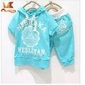 Monkids T-Shirt+Pants Boys Girls Clothing Sets Sport Baby Suits Children Clothing Kids Clothes Sets Letter Cotton 8 Colors