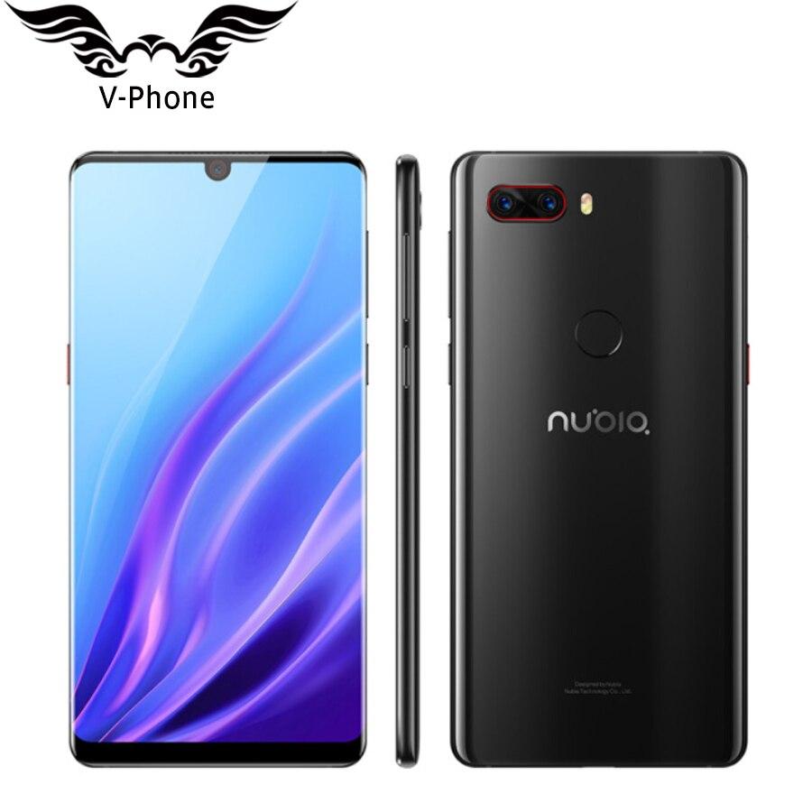 2018 Nouveau ZTE Nubia Z18 Mobile Téléphone 4g LTE 6 Snapdragon 845 6 gb RAM 64 gb ROM android 8.1 16MP 24MP Double Retour Caméra D'empreintes Digitales