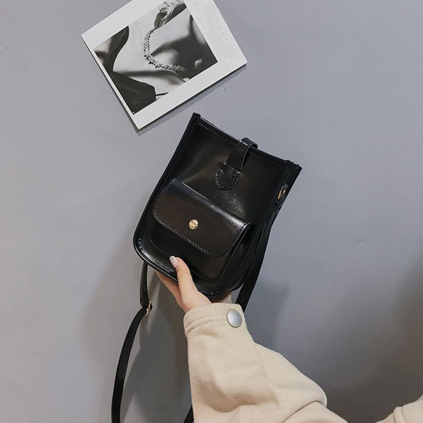 Женская Мода Винтаж искусственная кожа Сумка ms. Однотонная одежда пряжки мешок Малый Вечерние Сумка # F