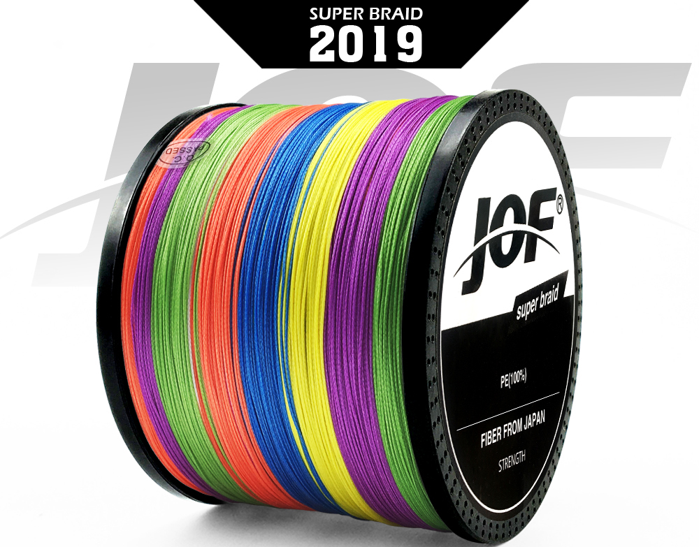 Multicolor 8 Strands 300M 500M 1000M PE Braid Fishing Line Sea Saltwater Fishing Weave 100% SuperPower JOF 7