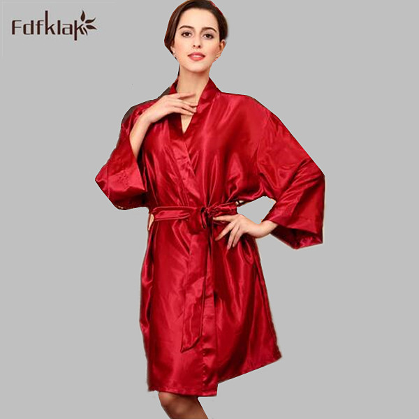 New large size silk robe 2017 spring summer bathrobes for women sexy bridesmaid robes ladies sleepwear dressing gowns A594