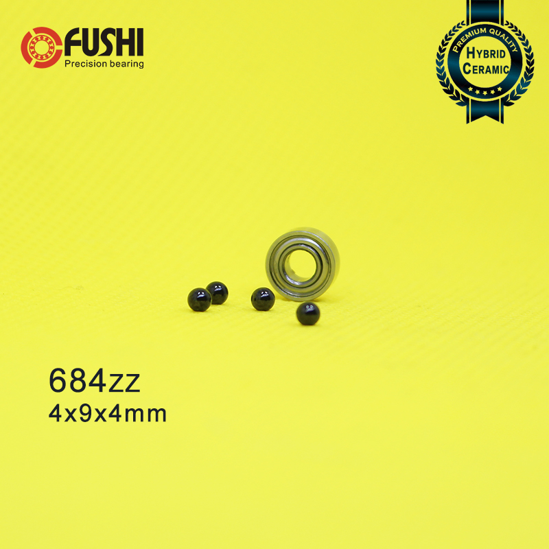 684 Hybrid Ceramic Bearing 4*9*4 mm ABEC-1 ( 1 PC) Industry Motor Spindle 684HC Hybrids Si3N4 Ball Bearings 3NC <font><b>684ZZ</b></font> image