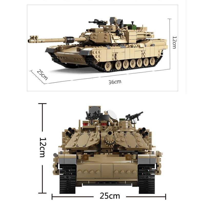 Kazi Military M1A2 Collection Tank Série Trans jouets 1:28 ABRAMS - Concepteurs et jouets de construction - Photo 5