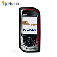 100% Original Unlocked Nokia 7610 Pink Mobile Phone GSM Tri Band Camera Bluetooth Cellphone with English/russia/arabic keyboard