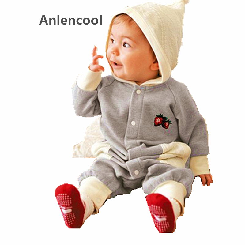 Anlencool 2017 New spring Free shipping baby clothing newborn baby supplies baby Siamese clothes for boys and girls clothing