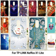 TAOYUNXI Merry Christmas Cases For TP-LINK Neffos X1 Lite Cover For TP-LINK Neffos X1 Lite TP904A TP904C Santa Claus Case(China)