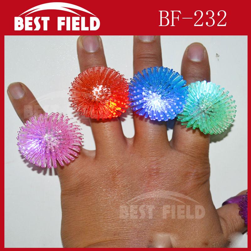 Free shpping 576pcs/lot 6color Soft Flicker flower fashion led finger ring led finger light led ring for wedding