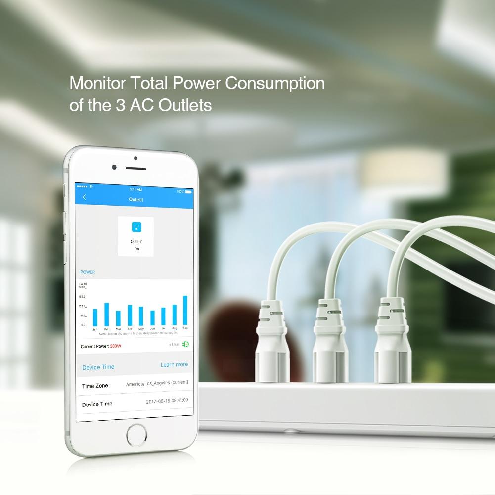 Умный дом Koogeek Wi-Fi интеллектуальный розеточный защитник индивидуально контролируемый 3 розетка силовой сектор для Apple HomeKit Alexa Google помощник (Фото 3)