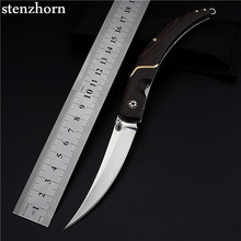 Stenzhorn 2017 Rushed Wood High Quality Outdoor Folding Knife Self-defense Wilderness Survival With Hardness Wild Fruit Fangs