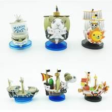 Nova PVC Japonês ONE PIECE Desenhos Animados Decoração Do Aquário Do Tanque de Peixes de Barco Navio Ornamento Merry Ensolarado Navio da Marinha Figura Decoração Aquática