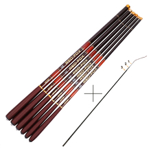 Goture Carbon Fiber Carp Fishing Rod With Front 3 Sections Hand Pole Ultra-light Ultrafine Fishing Pole 3.0-7.2M 1pcs