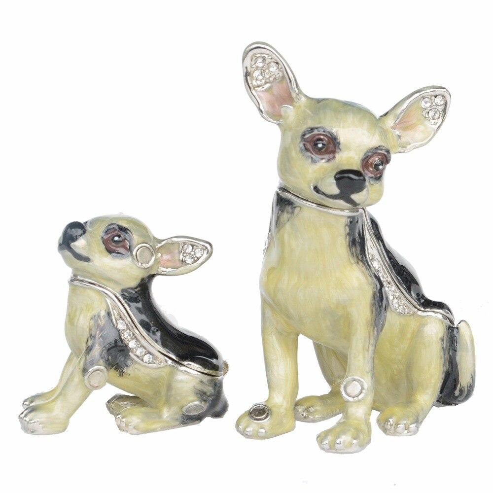 Chihuahua Dog Trinket Box Pewter Handmade Jewelry Box Dog Figures Gifts for  Pet Lovers b45b6817ae70
