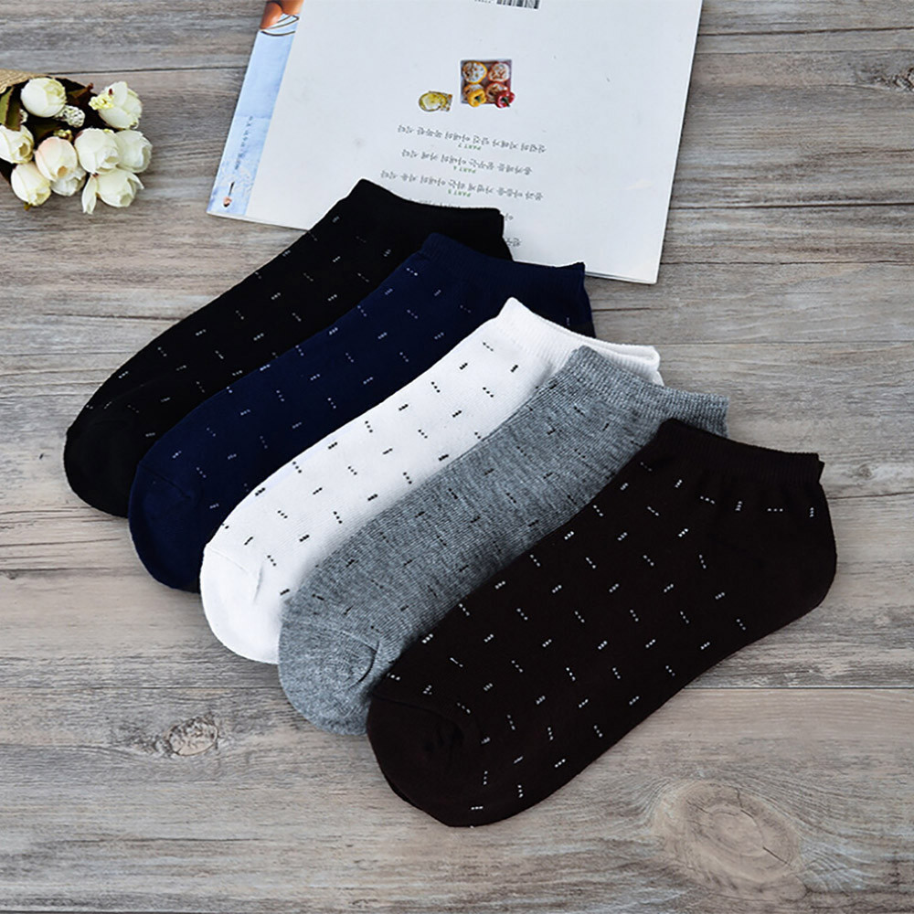 Men Comfortable Stripe Cotton Sock Slippers Short  Ankle Socks Good Quality Casual Breathable Sock For Men