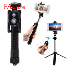Neue 3 in 1 Wireless Bluetooth Selfie Stick + Mini Selfie Stativ mit Fernbedienung Für iPhone X 8 7 6 s plus Tragbare Einbeinstativ(China)