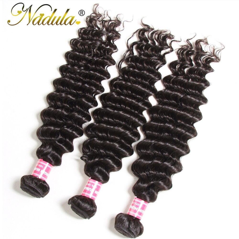 Nadula Hair 3 Bundles  Hair Deep Wave 12-26inch 100%   Bundles Natural Color  Hair s 3