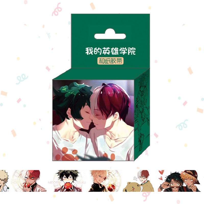 1.5cm*5m My Hero Academia Anime Washi Tape Adhesive Tape DIY Scrapbooking Sticker Label Masking Tape