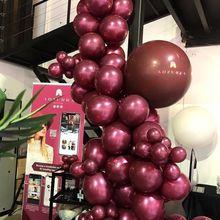 50 ชิ้น/ถุง 5/10/12 นิ้ว Burgundy Pearl Latex Helium บอลลูนสีแดงพรรค Globos ทารกอาบน้ำเจ้าสาวงานแต่งงานวันเกิดตกแต่ง