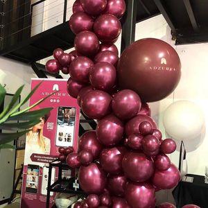 Image 1 - 50 sztuk/worek 5/10/12 calowy bordowy perła lateksowe baloniki helowe wino czerwone Party Globos baby shower dla nowożeńców dekoracje ślubne i urodzinowe