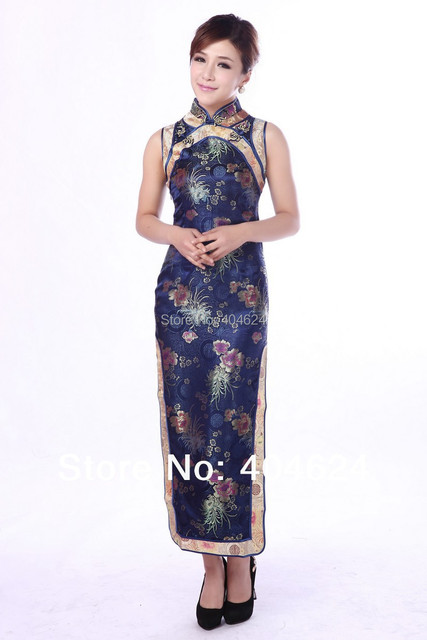 Charming Chinese New Women s Satin Vintage Elegant Qipao Wedding Formal  Dress Cheongsam S 01b228dab798