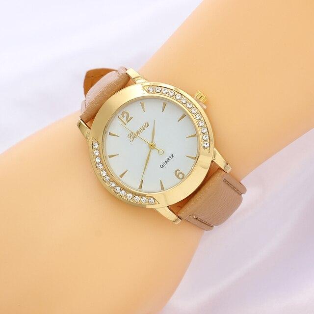 Хаки Цвет искусственная кожа наручные часы 2016 Для женщин часы платье  Спорт Дамы Часы Роскошные Лидирующий ed3e0478e92