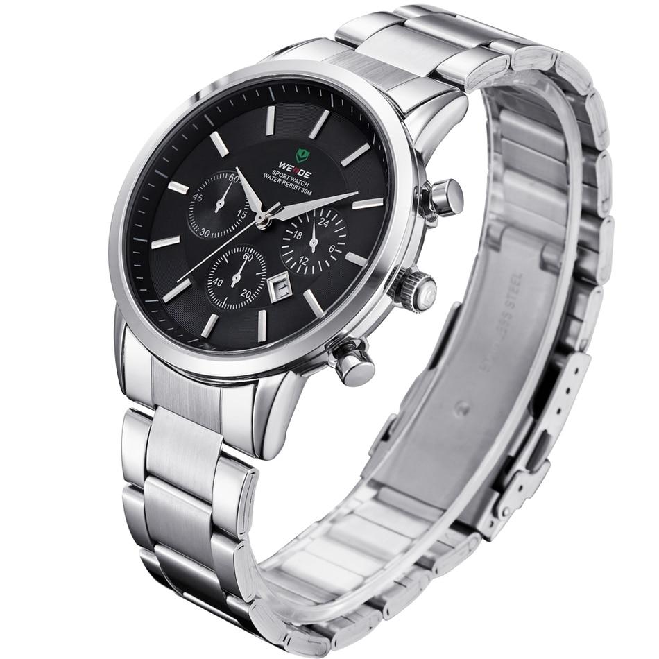 ФОТО 2017 New Popular WEIDE Men's Wristwatch  Waterproof Calendar  Casual Business Strip Watch  Clock Quartz  Relogio Masculino