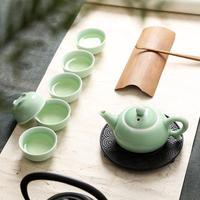 Ceramic Tea Cup Gaiwan Tea Pot Set China Tea Set Chinese Celadon Kung Fu Tea Set Porcelain Teaware Set Cultural Christmas Gift
