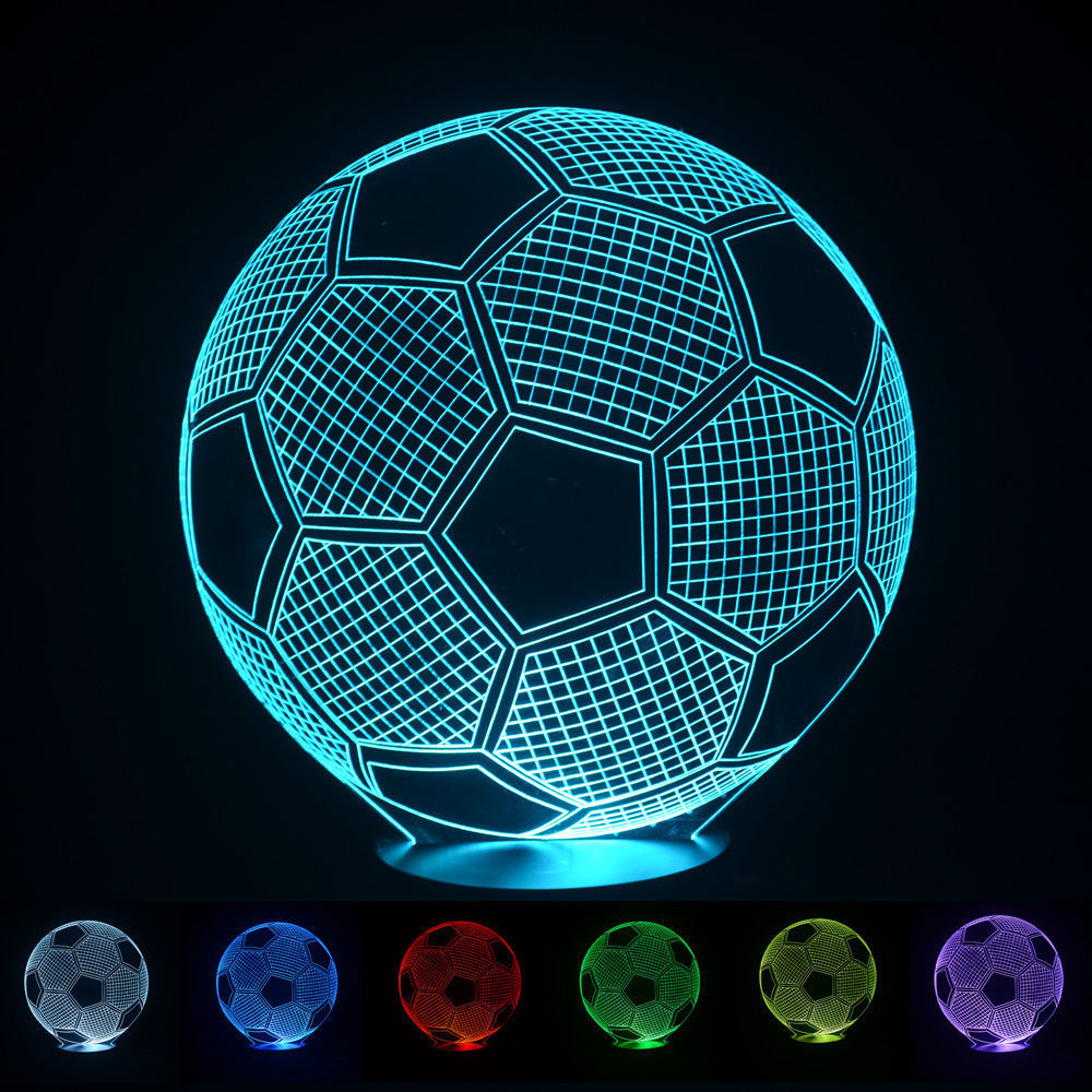 buy 2016 3d football light night lampe deco led lava lamp touch switch table. Black Bedroom Furniture Sets. Home Design Ideas