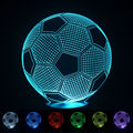 2016 3D Football Light Night Lampe Deco Led Lava Lamp Touch Switch Table Desk Lamp Led Light