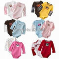 baby bodysuit long-sleeved clothes new born cotton Toddler  jumpsuit infant girls boys romper 5 pieces/lot