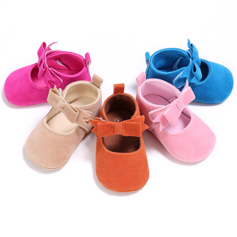Candy Color Bow Soft Bottom Bow-knot Baby Girl Moccasin Shoes Newborn Cute First Walkers Ballet Shoes