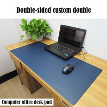 pbpad store Oversized office mouse pad desk writing mousemats computer solid color mousepad leather notebook pads for