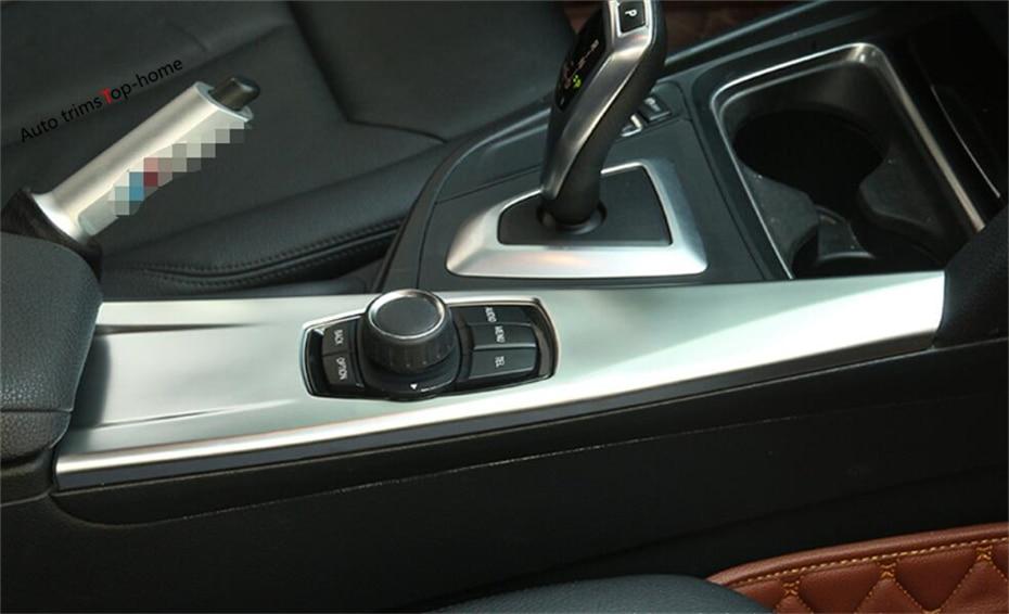 For BMW 3 Series 320i 328i 316i 2013 - 2017 ABS Interior Multimedia Panel Central Control Lid Molding Garnish Cover Trim 1 Pcs полуось на bmw 316i в беларуси