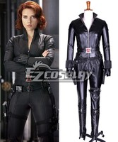 The Avengers Natasha Romanoff Black Widow Leather Cosplay Costume E001