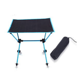 Image 3 - Outdoor picnic table camping portable aluminum folding table Oxford cloth waterproof ultra light travel desk furniture 4 color